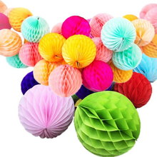 Party And Event Supplies Paper Decoration Paper Lantern Honeycomb Ball in Assort Color