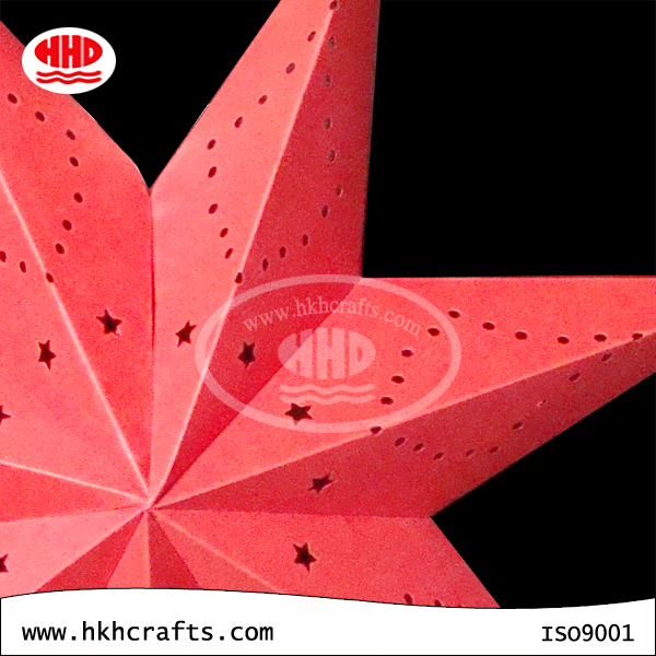 Stunning Hanging Paper Decoration Custom Fiesta 7 Angles Star Papel Lantern