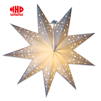Make A Nordic Style Christmas Giant Mini Stars Cut Out 9 Points Star Paper Lantern