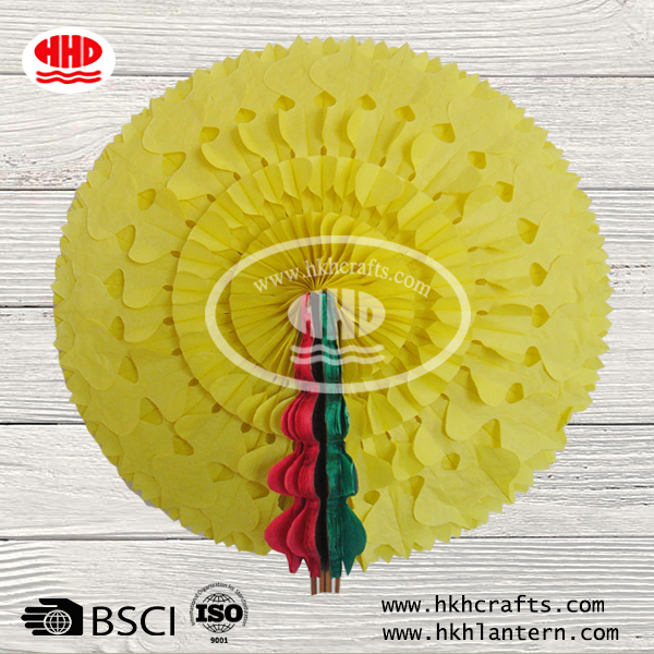 Elegant Party Hanging Round Tissue Paper Fans Decoration