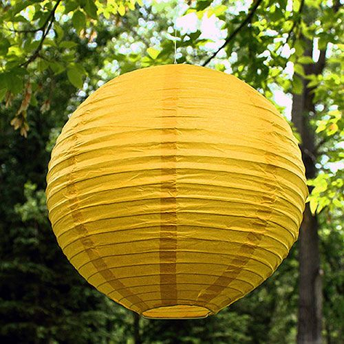 Paper Material Steel Frame Round Lantern