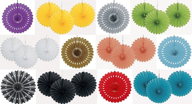 Unique Wedding Backdrops Wall Hanging Paper Fan for Party Decoration