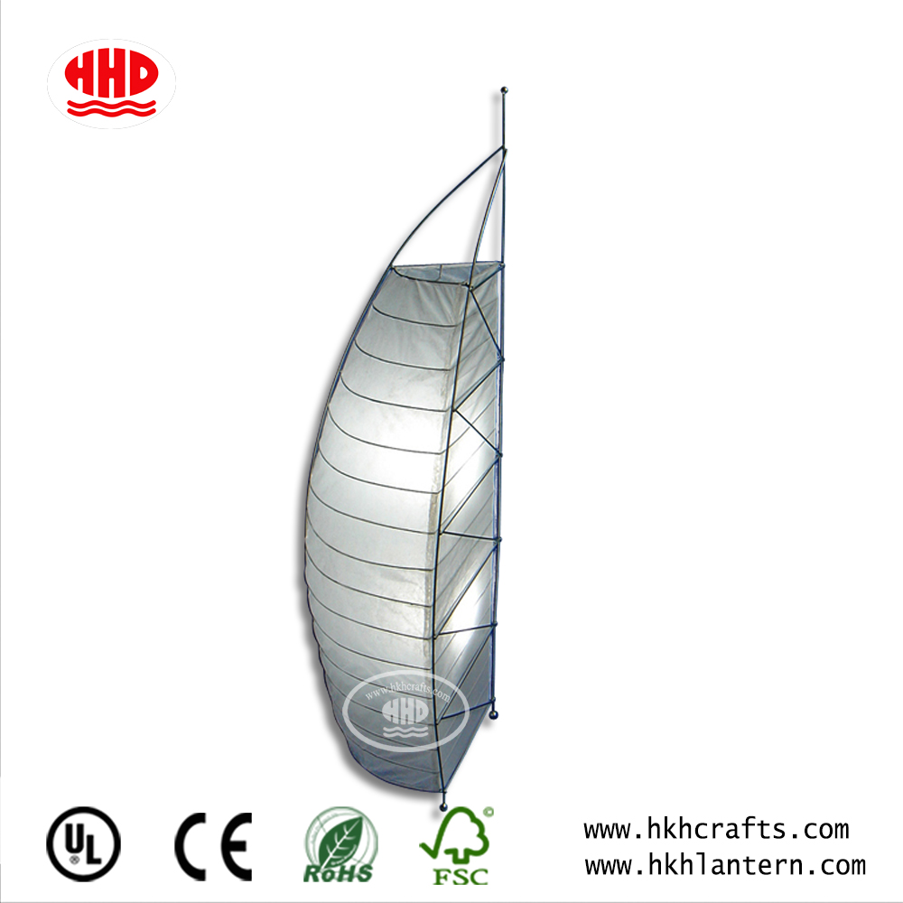 Home Decor Unique Shaped Rice Paper Floor Lamp with Stainless Metal Finished