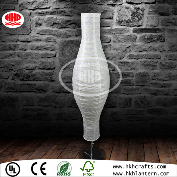 Irregular Bamboo Ribbing Bamboo Rice Paper Shade Floor Lamp