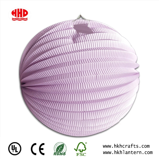 Folk Arts Handmade Light Pink Accordion Paper Lantern in Variety Size for Party Decoration