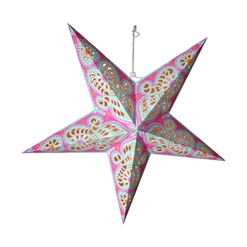 Wholesale 5 Point Decorative LED Paper Star Light Festival And Party Supplies