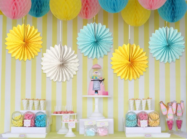 Mix And Match Colorful Wedding Photography Backdrop Hanging Tissue Honeycomb Paper Fan