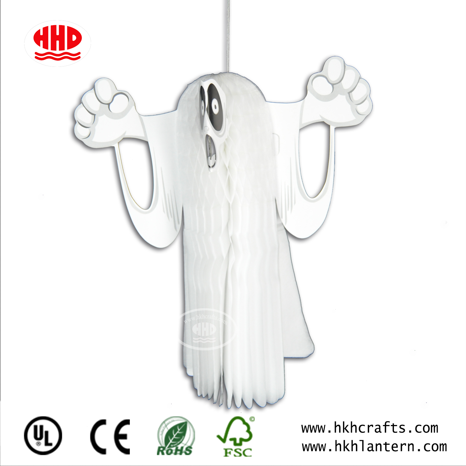 Halloween Ghost Christmas Ornament Party Decoration Tissue Paper Honeycomb Ball