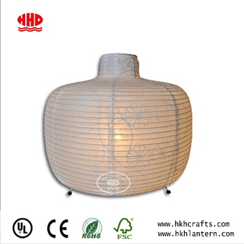 Chinese Regional Paper Craft Collapsible White Paper Shade Table Lantern