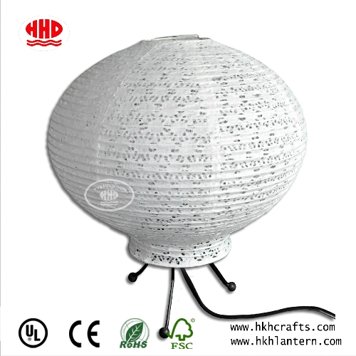 China Supplier Handmade Electric Table Lantern with Eyelet Paper Lamp Shade For Home Hotel Decor