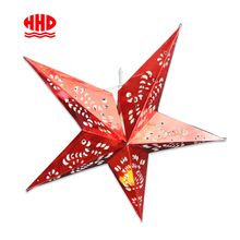 5 Arms Punch Holes Hanging Red Star Paper Lantern Bulk Sales