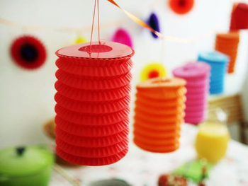 Perfect for An Oriental Handmade Cylinder Accordion Chinese Paper Lantern for Party Decoration