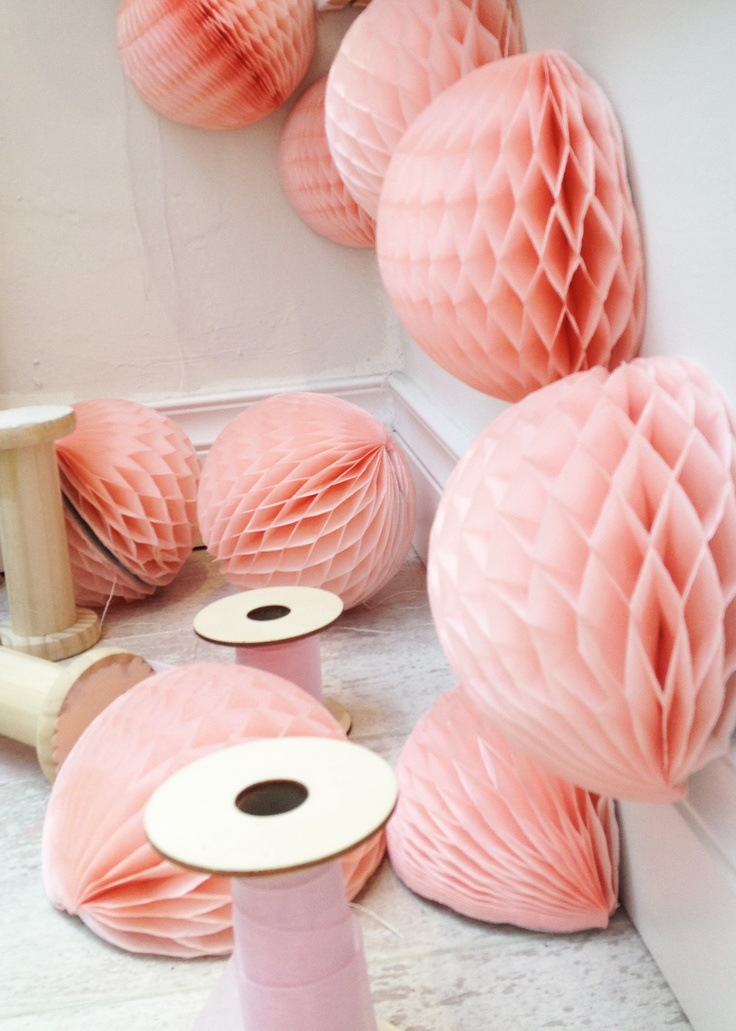 Make Your Own Wedding Backdrop, Party Decoration Pink, White, Fuchsia, Hanging Paper Honeycomb