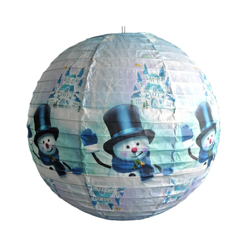 Christmas Snow Man Paper Lantern in Variety Size Bulk Sales for Party Events Supplies