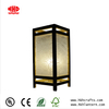 Japanese Inspired Paper Shade Table Lamps with Wood Frame Finished for Home Decor