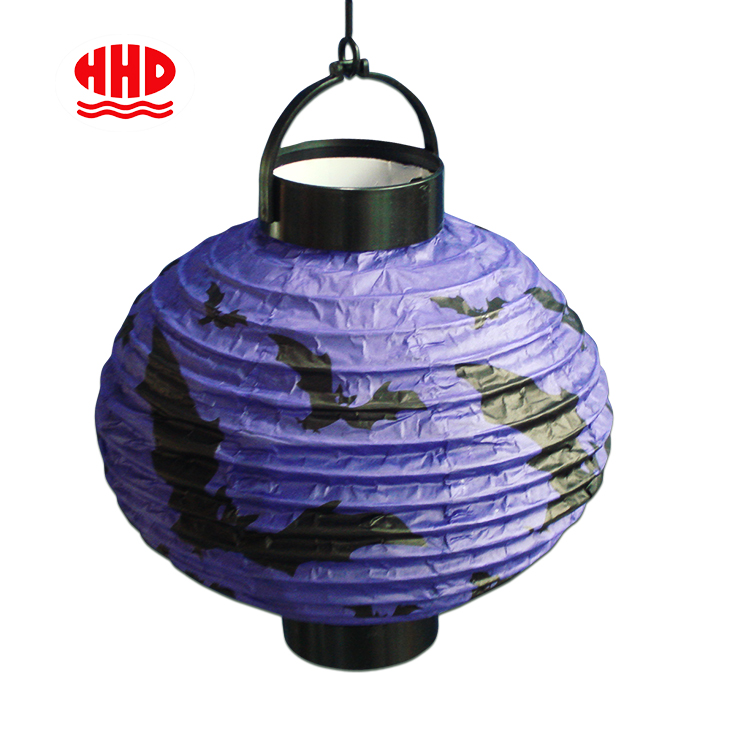 Battery Operated Halloween Decoration Hanging Light Pumpkin Spider Bat Printable Paper Lantern