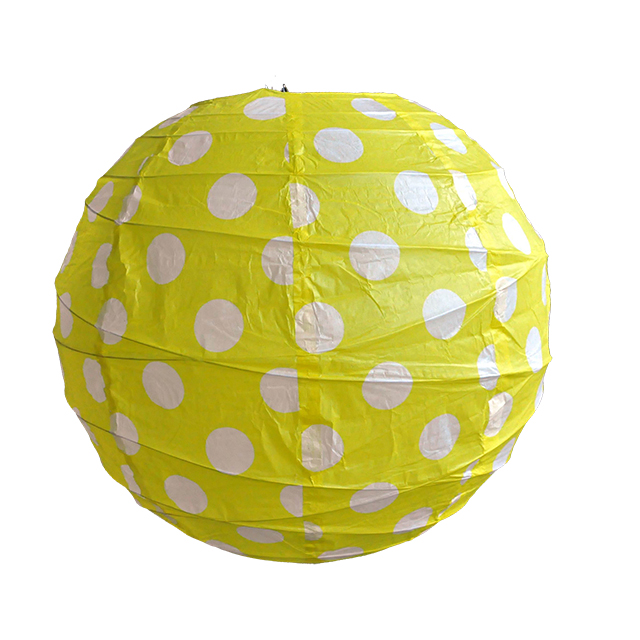 Chinese Supplier Yellow Pot Holiday Ornaments Paper Hanging Light Round Paper Lantern