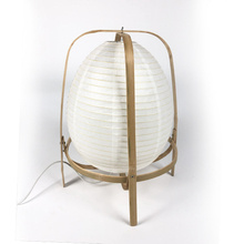 New Design Highly Welcomed Handmade Bamboo Base Modern Paper Folded Shade Table Lamp