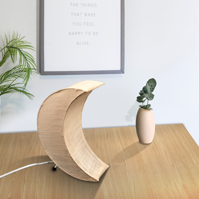 Chinese Supplier Handmade White Cheap Moon Paper Table Lamp For Home Hotel Decor